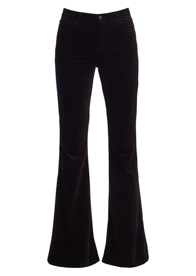 J Brand Valentina High Rise Velvet Flare Pants