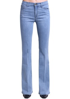 J Brand Valentina High Waist Flared Cotton Jeans