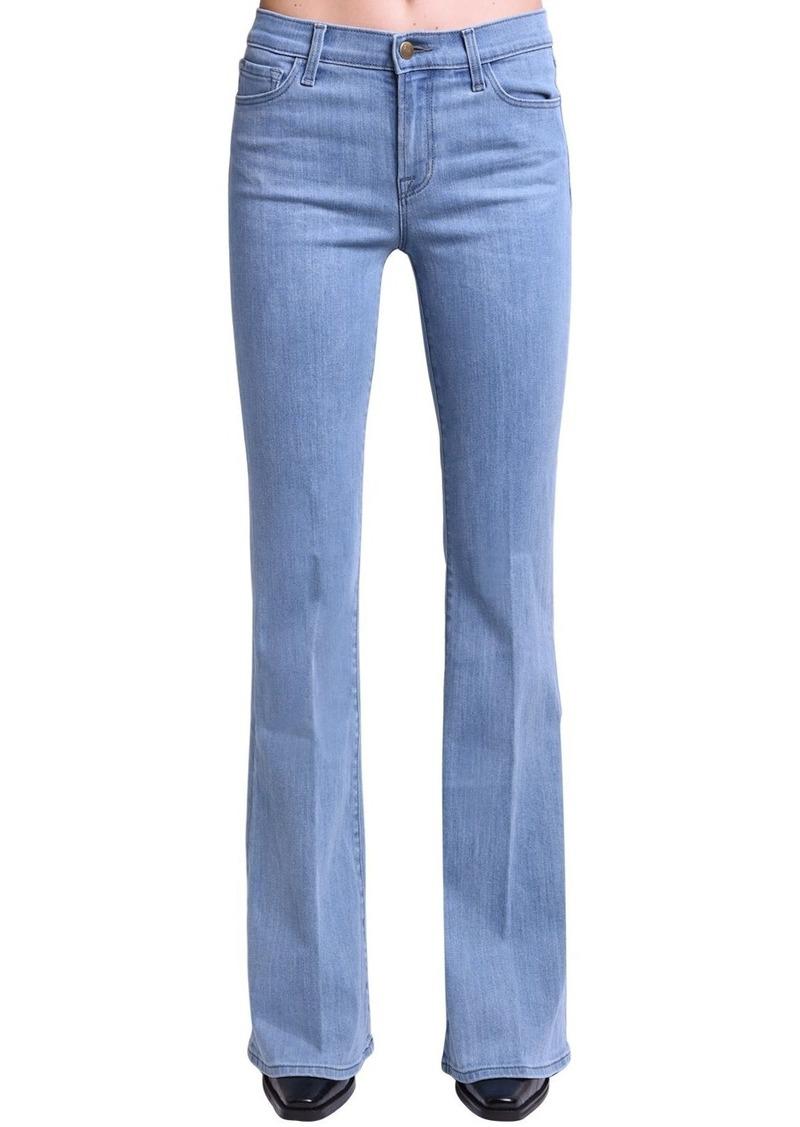 J Brand Valentina High Waist Flared Cotton Jeans