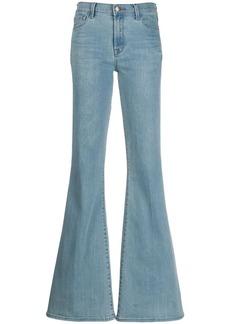 J Brand Valentina mid-rise flared jeans