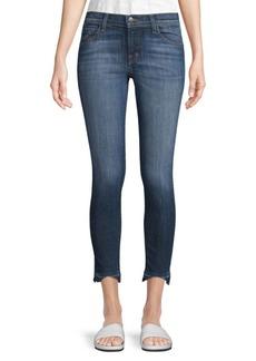 Washed Raw-Hem Jeans