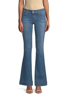 J Brand Whiskered Boot Cut Jeans