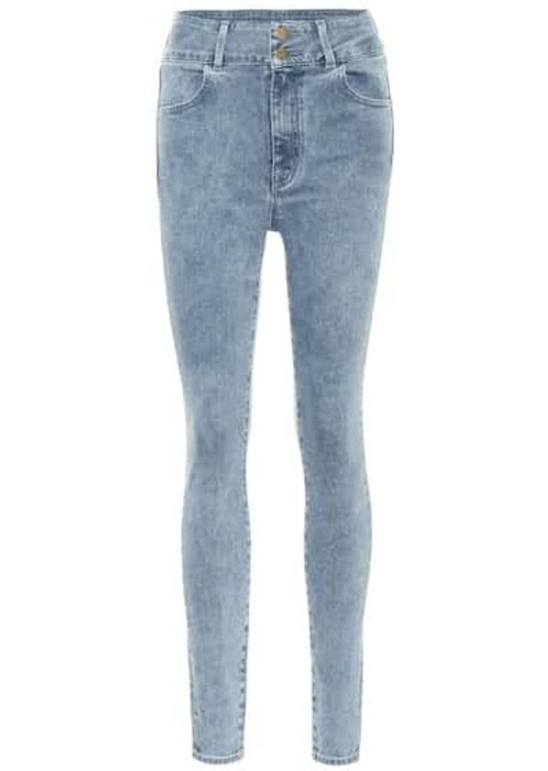 J Brand x Elsa Hosk Saturday high-rise skinny jeans