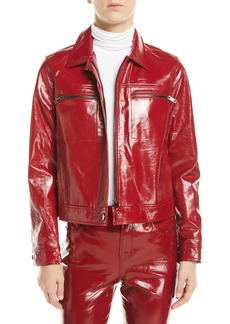 J Brand Yvette Zip-Front Leather Moto Jacket