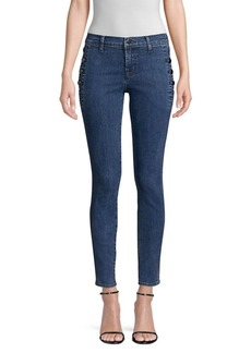 J Brand Zion Mid-Rise Button Skinny Jeans