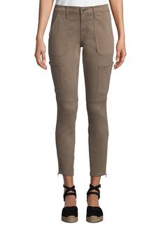 J Brand Zip-Cuff Patch Pocket Skinny Utility Jeans