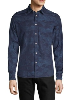 J. Lindeberg Camouflage Cotton Button-Down Shirt