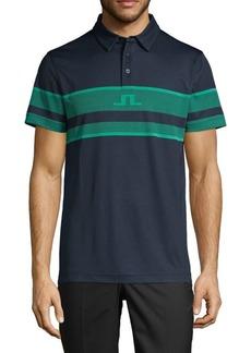 J. Lindeberg Colorblock Slim-Fit Polo