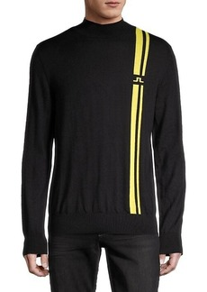 J. Lindeberg Graphic Merino Wool-Blend Sweater