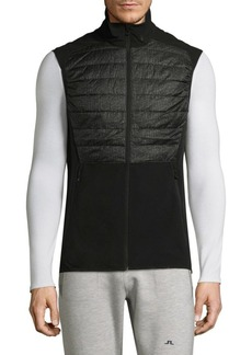 J. Lindeberg Active Hybrid Zippered Vest