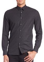 J. Lindeberg Dot Print Cotton Sportshirt