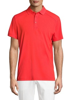 J. Lindeberg Golf Dennis Racing Short-Sleeve Polo