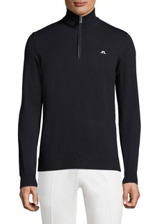 J. Lindeberg Golf Kian Logo Printed Wool Sweater