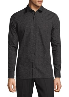 J. Lindeberg Printed Cotton Button-Down Shirt