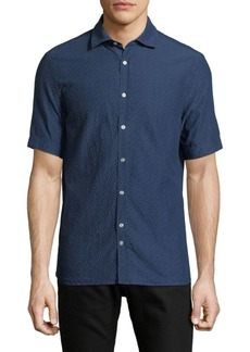 J. Lindeberg Short-Sleeve Cotton Button-Down Shirt