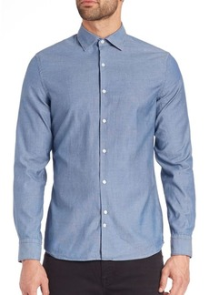 J. Lindeberg Slim-Fit Button-Up Shirt