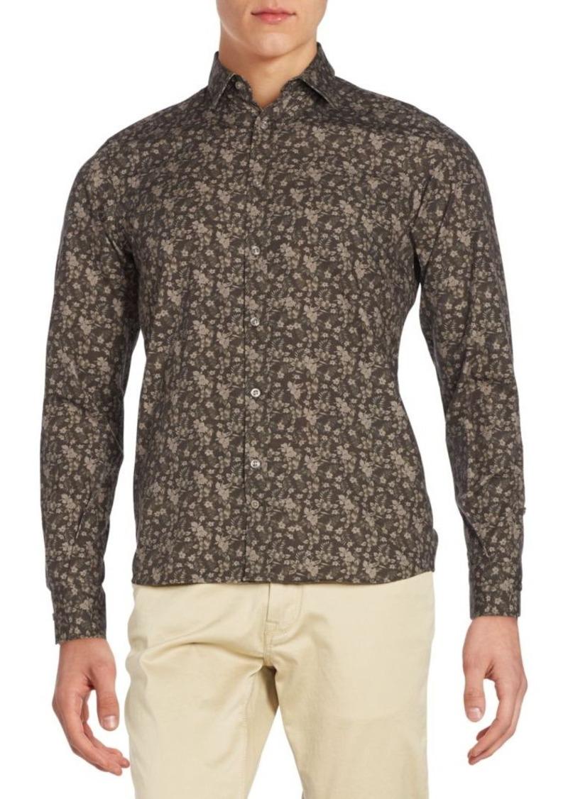 J. Lindeberg Floral Cotton Sportshirt