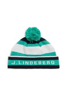 J. Lindeberg Active Stripe Golf Beanie