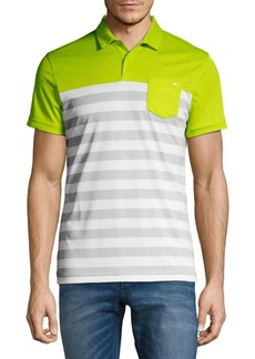 J. Lindeberg Stripe Short-Sleeve Polo