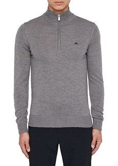 J. Lindeberg Kian Tour Merino Wool Half-Zip Sweater