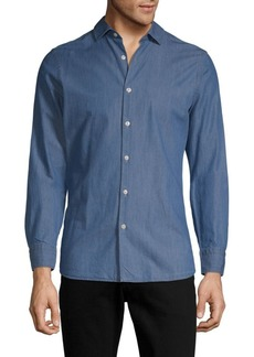 J. Lindeberg Long-Sleeve Cotton Button-Down Shirt