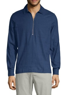 J. Lindeberg Long-Sleeve Cotton Polo