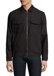 J. Lindeberg Long Sleeve Zip-Front Shirt