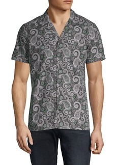 J. Lindeberg Paisley Cotton Button-Down Shirt