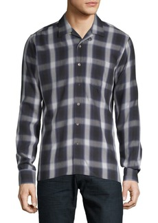 J. Lindeberg Plaid Button-Down Shirt