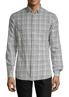 J. Lindeberg Plaid Cotton Button-Down Shirt