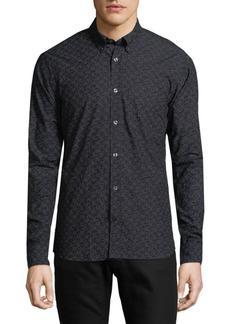 J. Lindeberg Printed Cotton Casual Button-Down Shirt