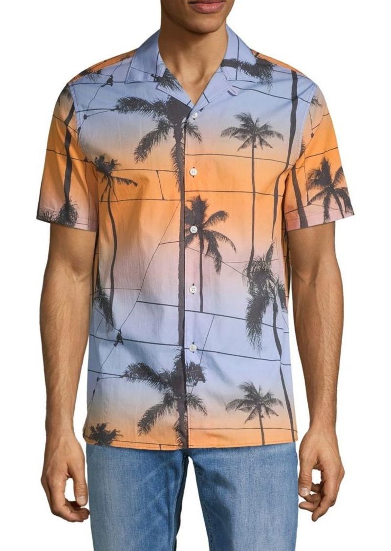 J. Lindeberg Printed Short-Sleeve Shirt