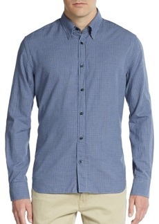 J. Lindeberg Regular-Fit Checkered Cotton Sportshirt