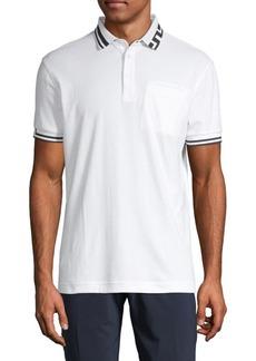 J. Lindeberg Short-Sleeve Cotton-Blend Polo