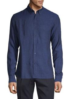 J. Lindeberg Slim-Fit Chambray Shirt