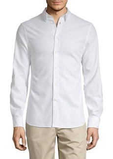 J. Lindeberg Solid Button-Down Shirt