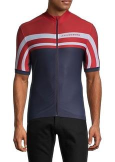 J. Lindeberg Striped Bike Top