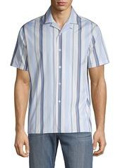 J. Lindeberg Striped Short-Sleeve Shirt