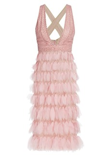 J. Mendel Embellished Silk Cocktail Dress