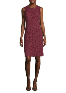 J. Mendel Corded Lace Sheath Dress