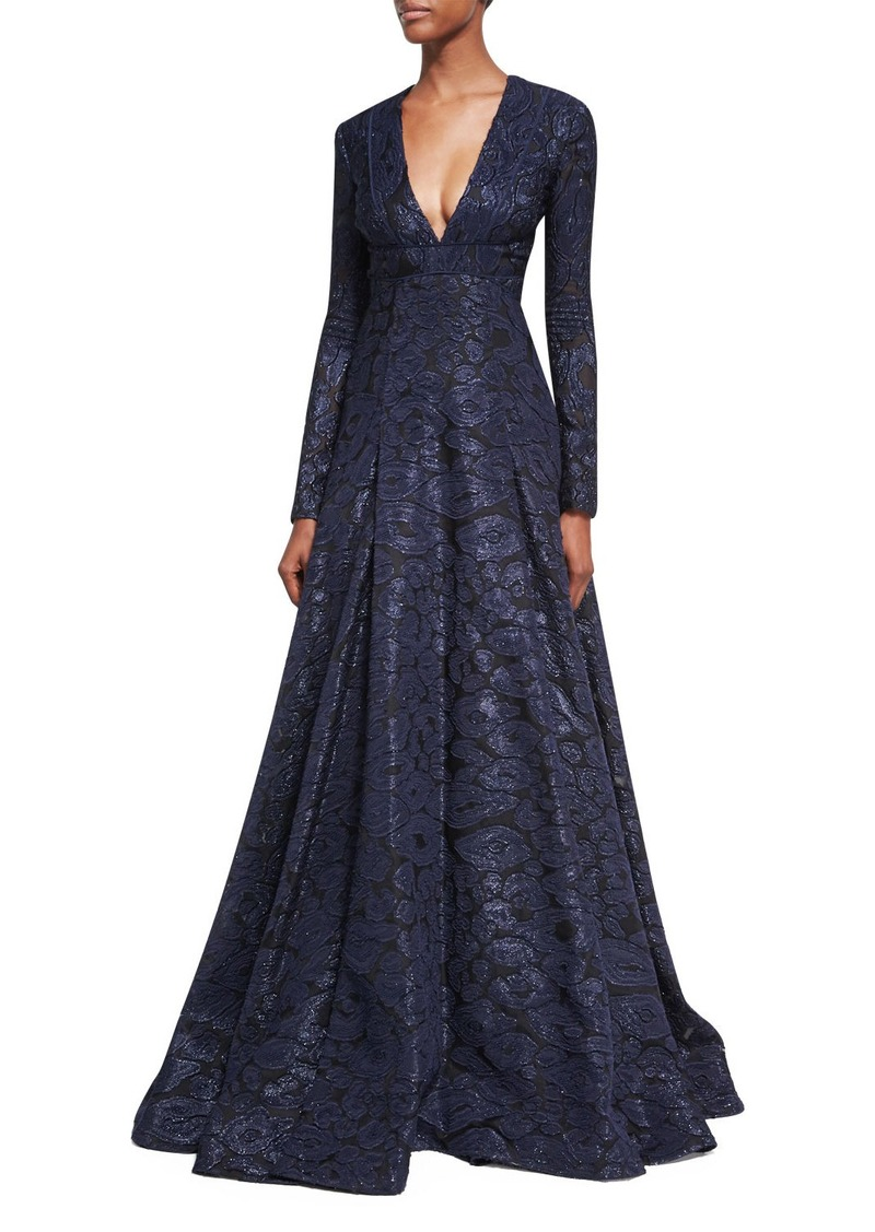 J. Mendel J. Mendel Deep V-Neck Fil Coupe Ball Gown | Dresses - Shop ...