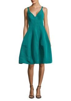 J. Mendel Faille Zippered Silk Dress