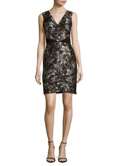 J. Mendel Floral-Printed Sheath Dress