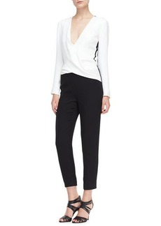 J. Mendel Long-Sleeve Silk Jumpsuit