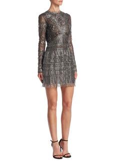 J. Mendel Metallic Lace Dress