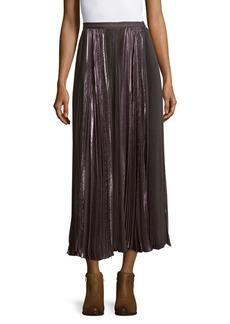 J. Mendel Pleated Silk Skirt