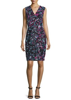 J. Mendel Plunge-Neck Beaded & Embroidered Cocktail Dress