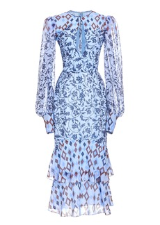 J. Mendel Printed Silk Dress