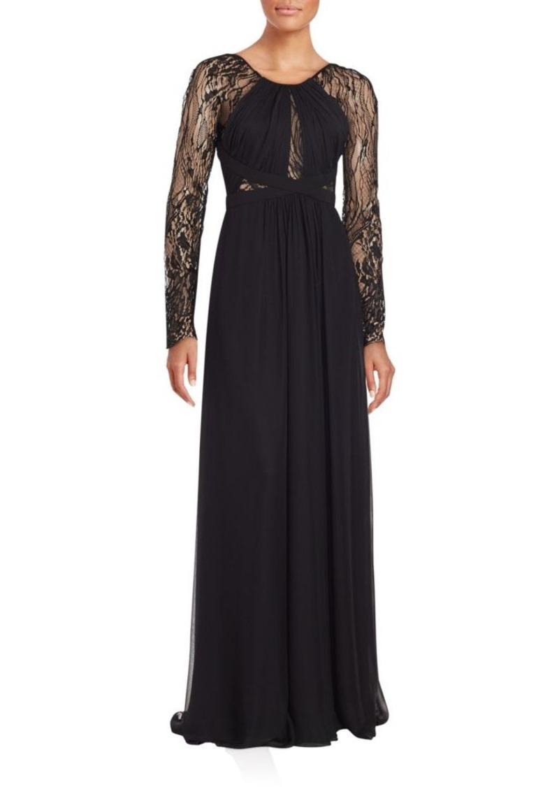 J. Mendel Sheer Sleeve Silk Gown