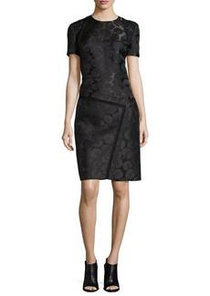 J. Mendel Short-Sleeve Embroidered Dress